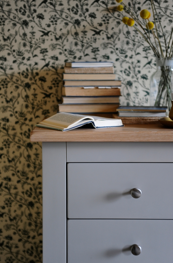 Chester Grey Chest of Drawers With Silver Handles