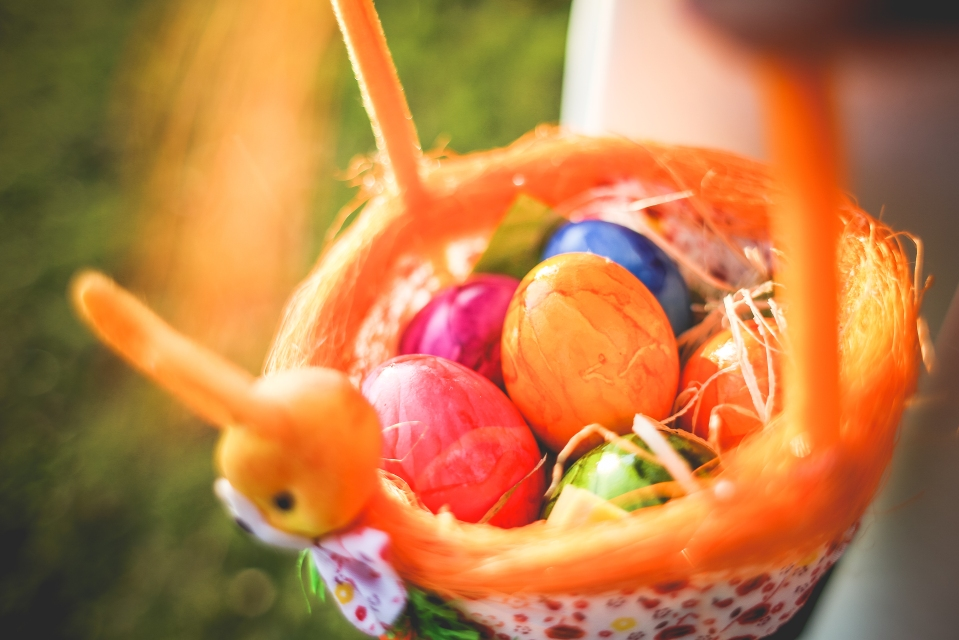 Egg hunt basket