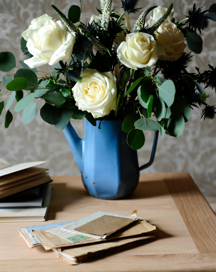 Letters Post Books Flowers Roses Vintage