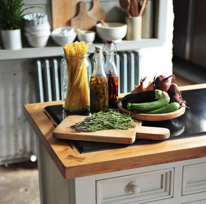 Rosemary Oils Vegetables Chopping Board Pasta