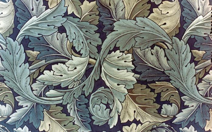 MORRIS: WALLPAPER, 1875. William Morris 'Acanthus' wallpaper, 1875.