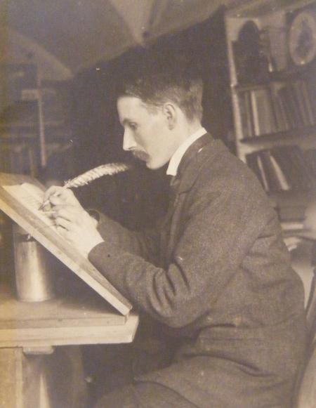 Edward Johnton at his desk