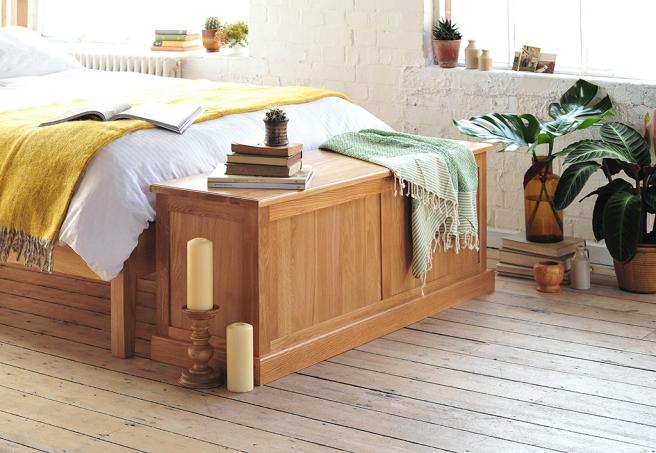 Oak Bedroom Furniture, dream bedroom, white wash floors, plants