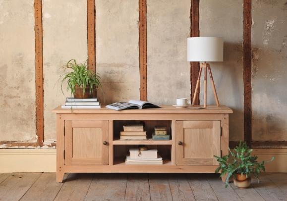 Oak furniture, TV unit, natural oak, rustic, modern country