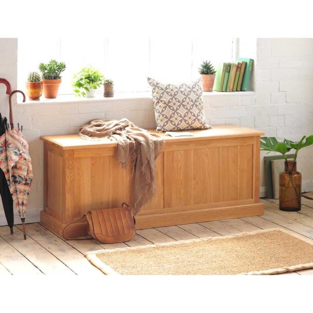 Oak Shoe Storage, Hallway, Hall seating, chest, blanket box