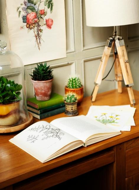 Open Book, Botanical, oak furniture, Oak Desk