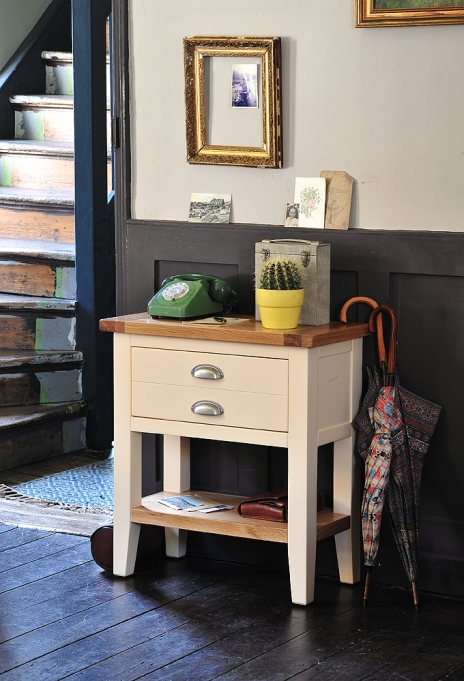 Painted Hall furniture, small hall furniture, small console, telephone table, hallway, stairs, hall storage