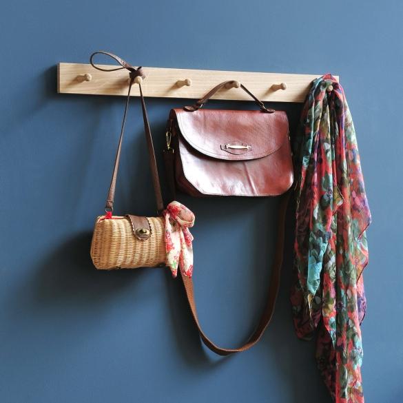 Peg rail, hall hooks, hallway, coat hooks, hanging accessories