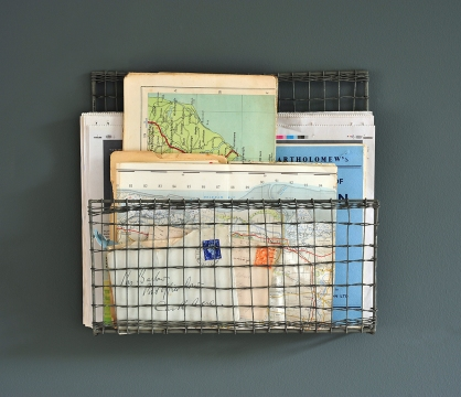Post, maps, paperwork, hallway, organisation