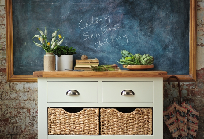 Blackboard, kitchen, dream kitchen, dream home, shopping list, notice board,