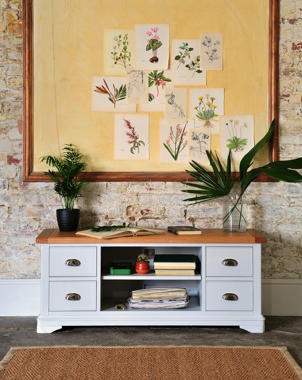 botanical, plants, painted furniture, rustic