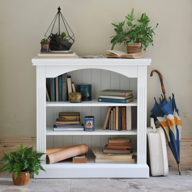 Burton white bookcase