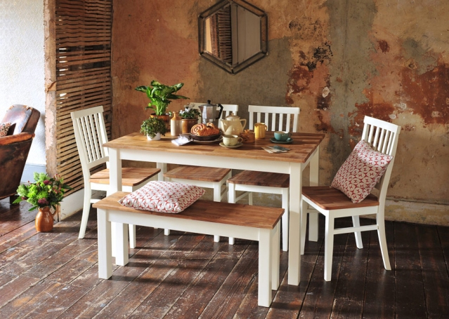 Dining with cushions, breakfast, rustic dining, herbs, modern rustic