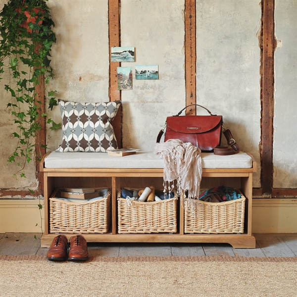 Farmhouse Natural Storage Bench