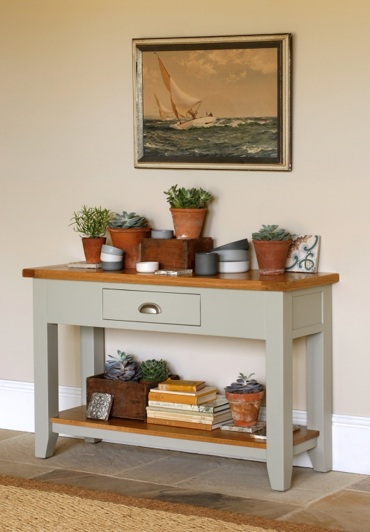 French Grey painted sideboard, grey furniture, heritage green, pottery, nautical, succulents