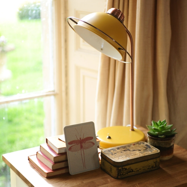 mustard lamp, retro, lighting, table lamp