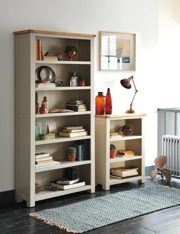 Nautical, saling, bookcases, grey furniture, books, blue, blue rug, white walls