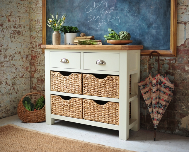 Painted furniture, painted sideboard, blackboard, gold frame, dream kitchen, kitchen storage