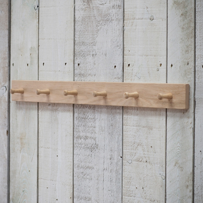 Peg rail, peg board, hanging rail, wooden peg rail
