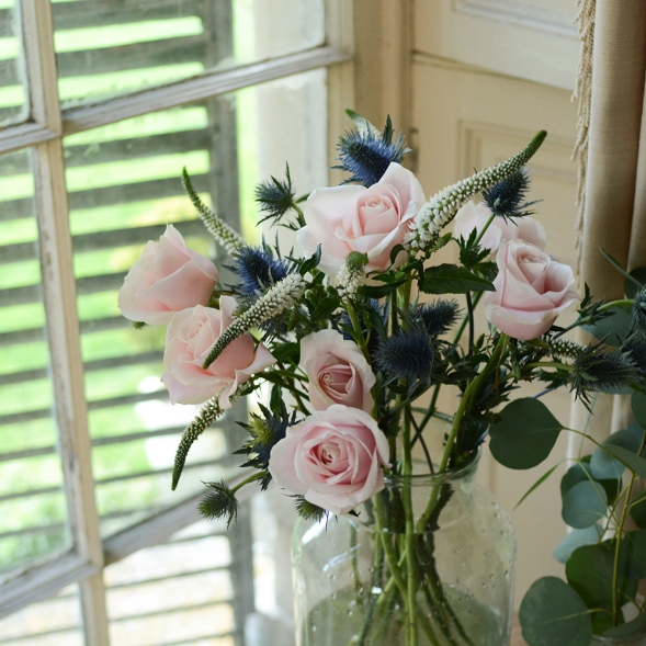 Roses, Veronica, Thistles