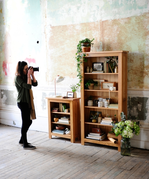 Behind the scenes, photography, bookcases, hydrangers