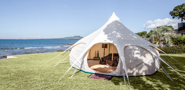 Cool camping, tent coast