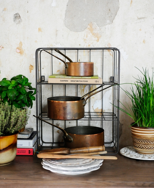 Copper Pots, extra storage, kitchen, dining, cooking, cook books