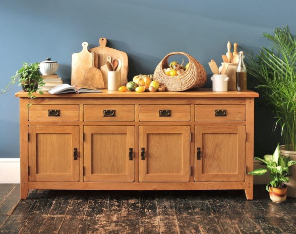 Extra large sideboard, freestanding kitchen furniture, dream kitchen, country kitchen