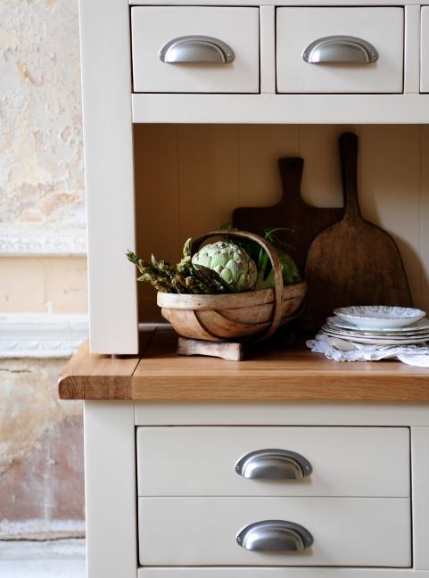 Painted kitchen furniture, freestanding furniture, dream kitchen