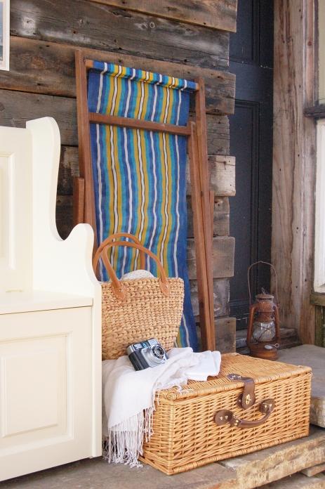 Shed, storage, deck chair, hamper