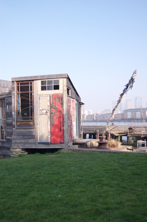Shed, summerhouse, pod, thames, london, greenwich