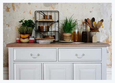 MODERN COUNTRY LIVING #11…WESTBURY GREY SIDEBOARD