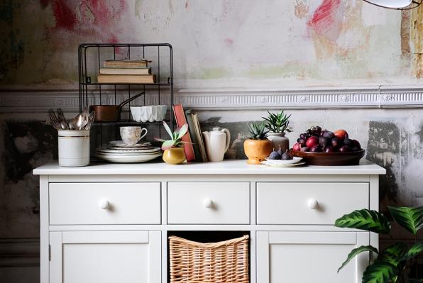 White furniture, Kitchen, freestanding kitchen furniture,