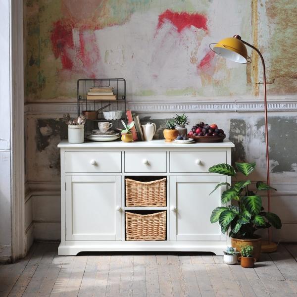 White furniture, white sideboard, white dining furniture