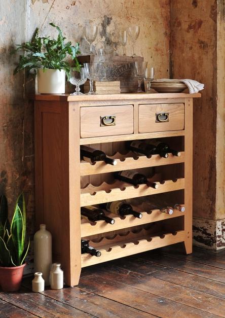 Wine rack, oak furniture, kitchen furniture, dream kitchen, country kitchen