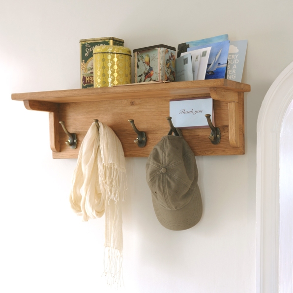 Oak high storage, hooks, accessories, hallway porch