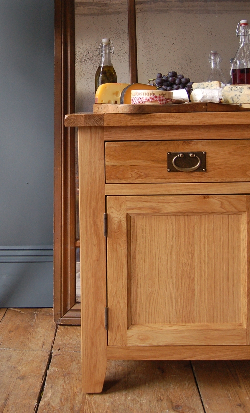 Oak sideboard, wine rack, cheeses, dream dining