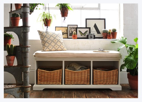 WIN A FARMHOUSE PAINTED HALL BENCH