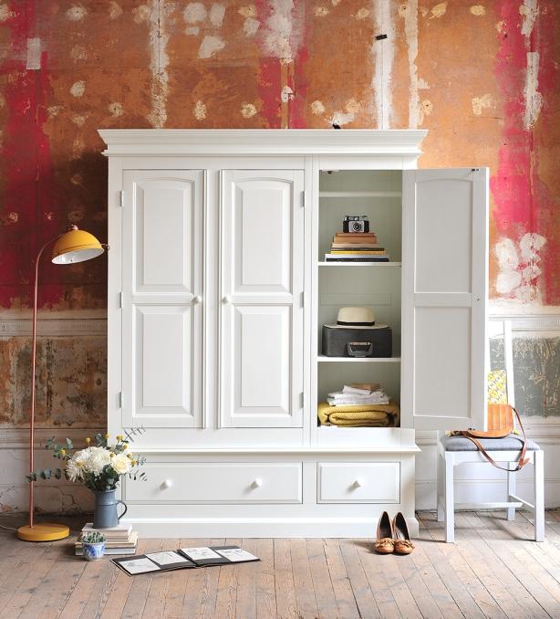 White wardrobe, white bedroom furniture, dream bedroom
