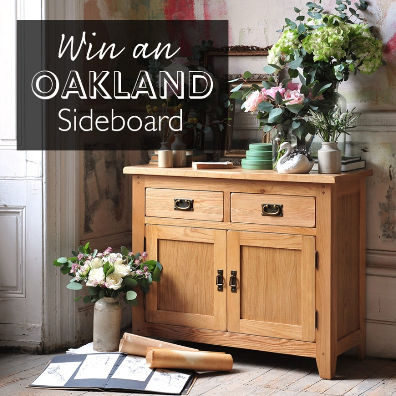 win an oakland oak sideboard