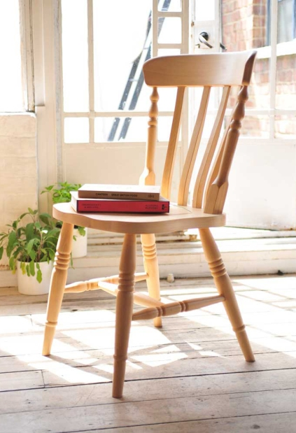 Pine chair, country kitchen, cookbooks, herbs