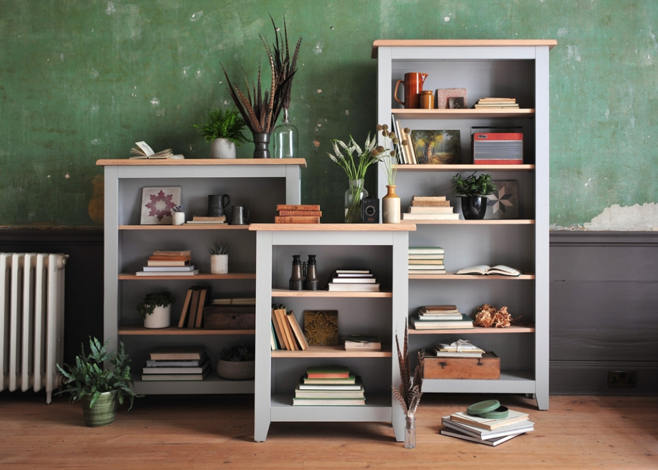 book-cases-painted-bookcases-painted-furniture-green-walls-vintage-home-country-home