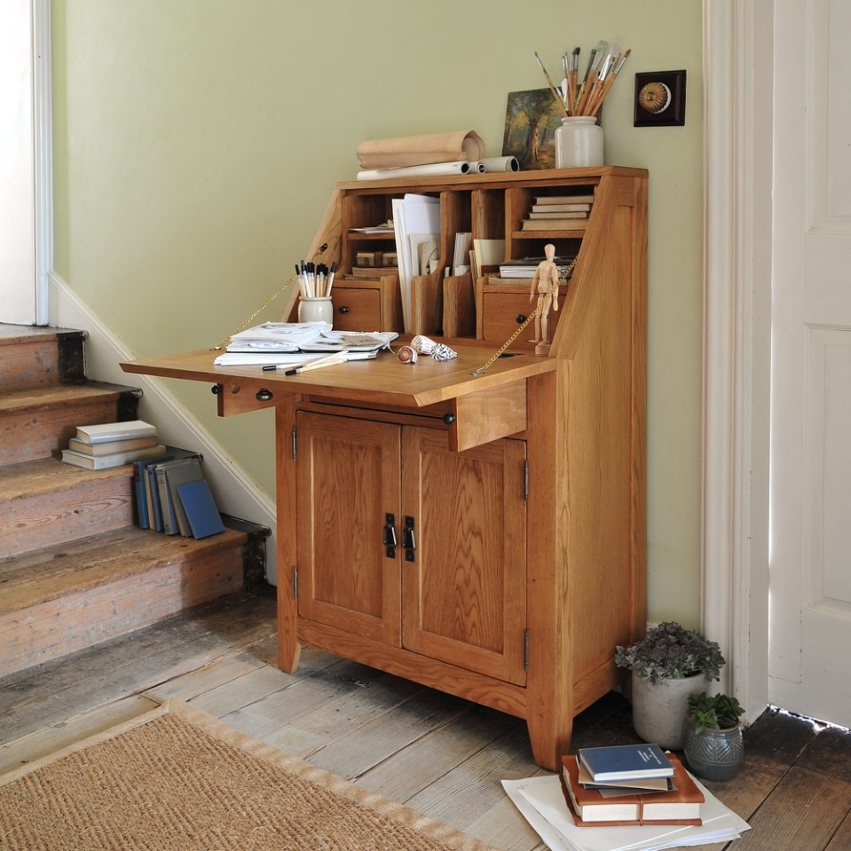 Bureau, oak, desk, home office, artist, drawing, painting