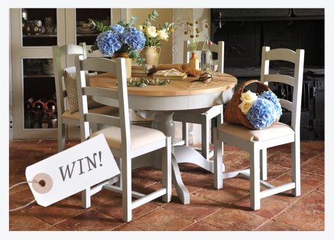 WIN A CHESTER GREY DININGSET
