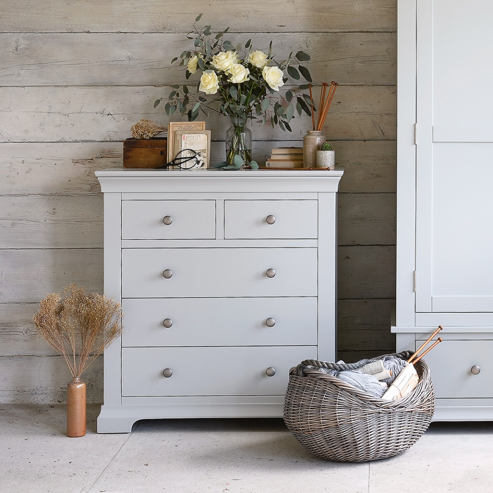 Chambery Grey 2+3 Chest of Drawers
