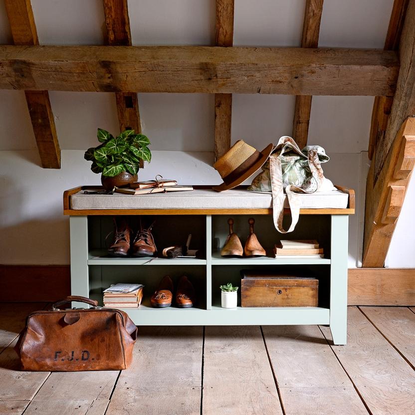Charlton Painted Shoe Bench